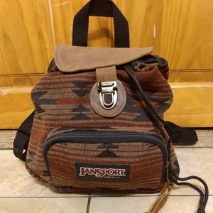 Vintage 90s Jansport Half Pint Mini Brown Backpack